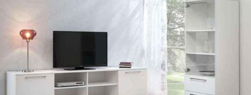 Solo tv-taso vitriini valkoinen