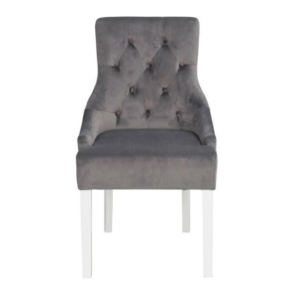 Stella tuoli harmaa sametti kangas