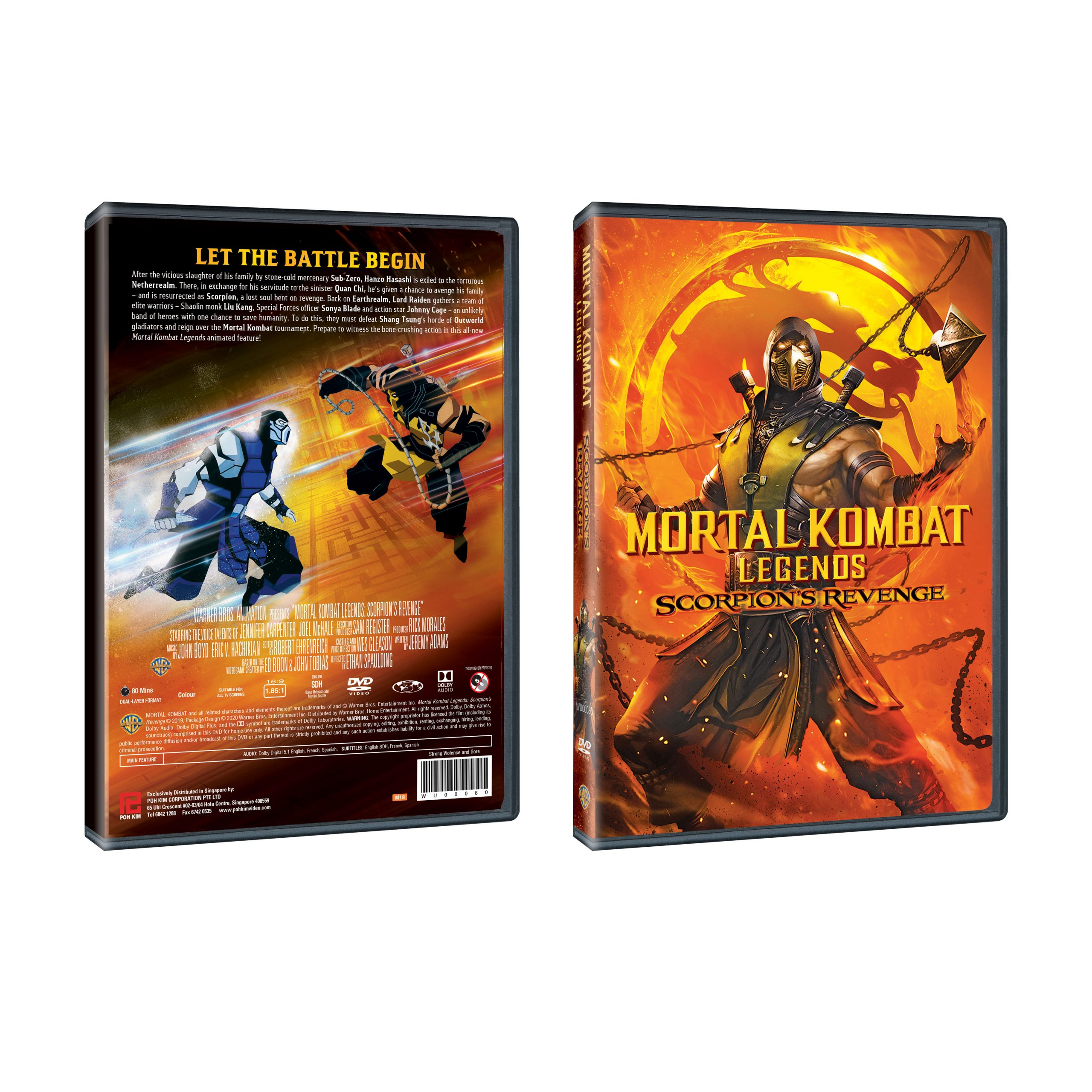 Mortal Kombat Legends Scorpion S Revenge Dvd Poh Kim Video