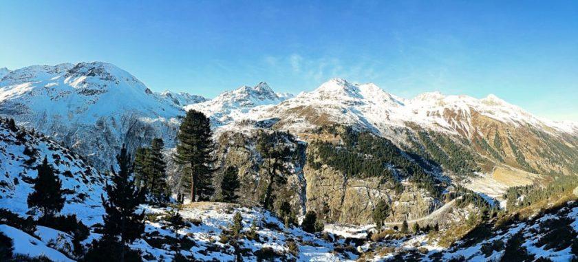 Ötztalské Alpy - pohled směrem na Kaunertaler Gletcher