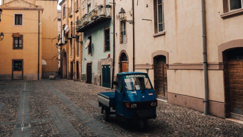 Bosa street, Italy