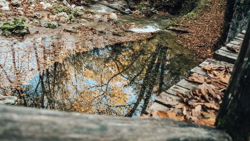 Skra waterfalls na severu Řecka