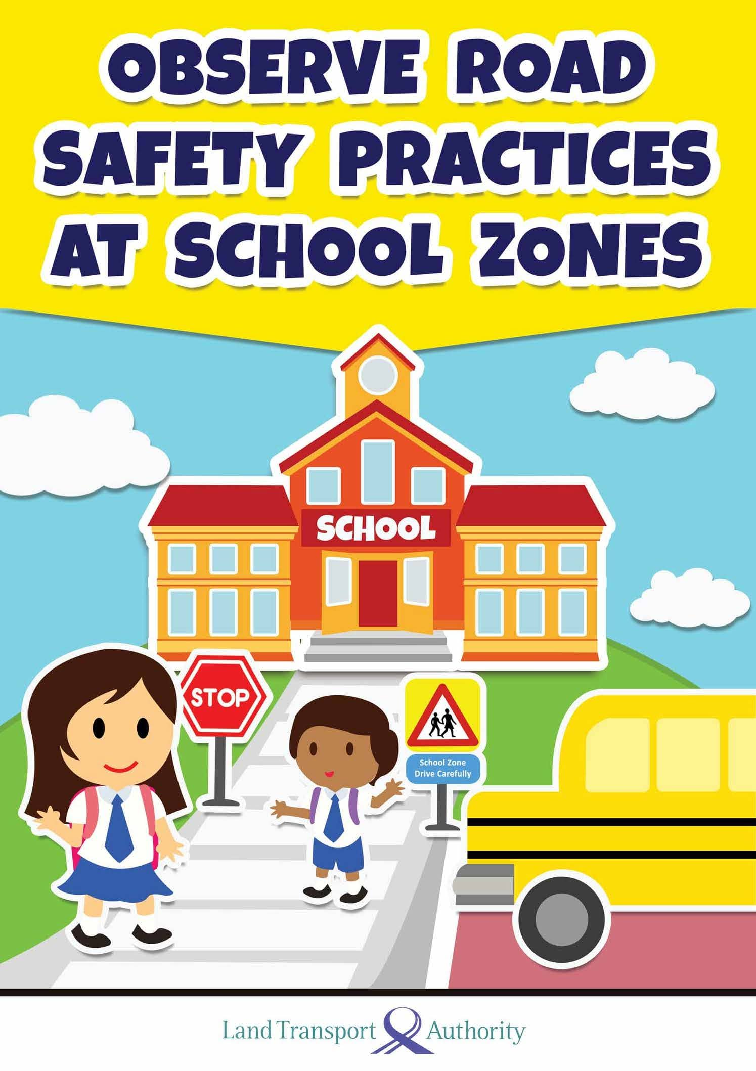 School Zone Safety Brochures For Primary 1 Students
