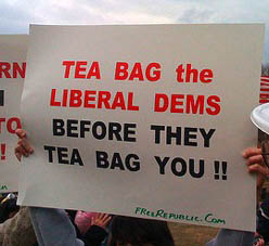 tea bagging