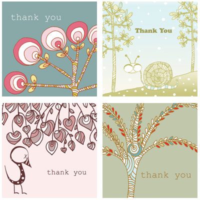 Thank You cards from PaperCrave