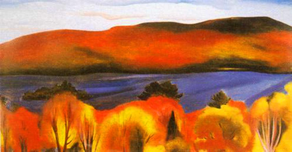 Lake George Autumn by Georgia O'Keeffe 1927