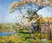 """Apple Trees in Bloom, Old Lyme"" by Childe Hassam"