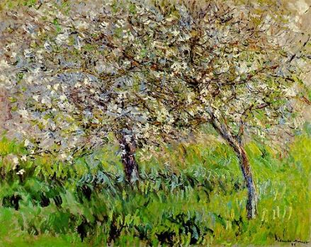 """Apple Trees in Full Bloom at Giverny"" by Claude Monet"