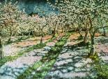 """""""Bloomy Apple Garden"""" (1936)by Nikolay Bogdanov Belsky"""