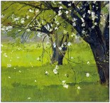 """Tree Blossoms""by Theodore Robinson"
