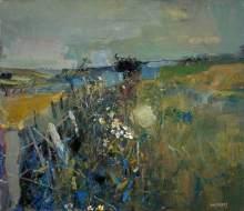 """""""July Fields"""" (nd, oil on canvas)"""