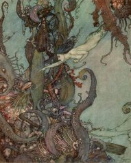 """""""The Little Mermaid"""" (1911, illustration) by Edmund Dulac"""