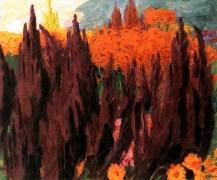 """Love Lies Bleeding"" (1939, oil on canvas)by Emil Nolde"