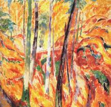 """""""The Ravine"""" (1913, oil on canvas)by Rik Wouters"""