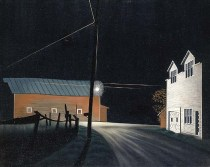 """Bright Light at Russell's Corners"" (1945, oil on canvas)by George Ault"