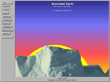 Scorched Earth 1.5 Title Screen