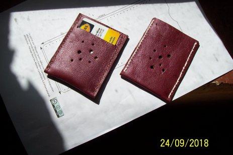 Patron porte carte plat minimaliste, point-sellier Tithouan