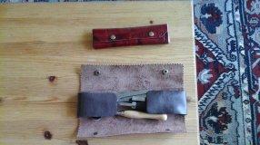 trousse à rabats en cuir, patron gratuits libre maroquinerie et travail du cuir