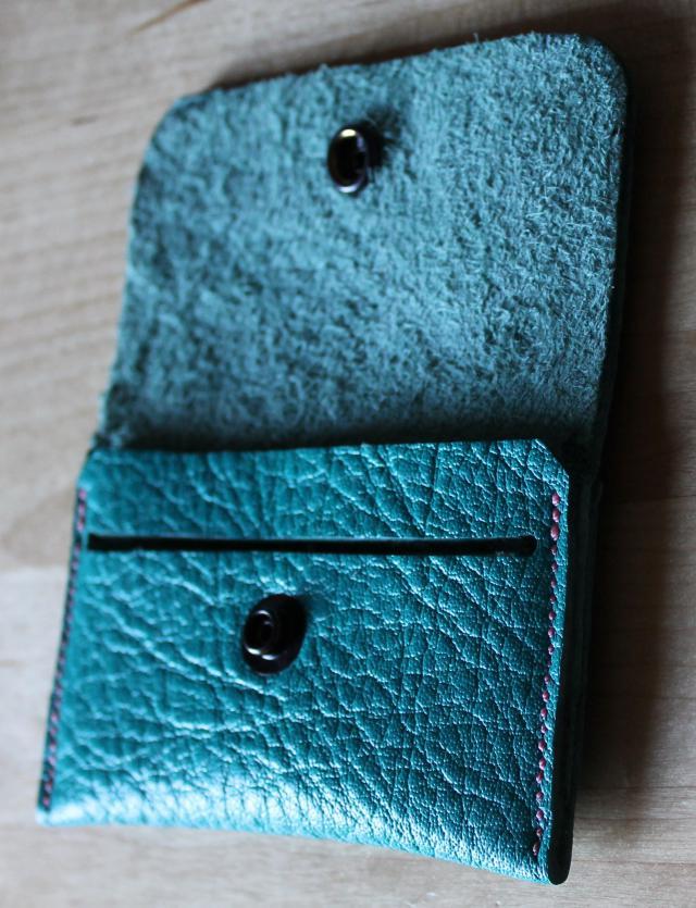 patron porte cartes à rabat en cuir