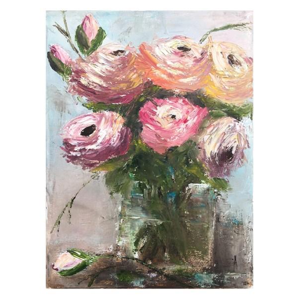 Flowers chunkyrose in vase