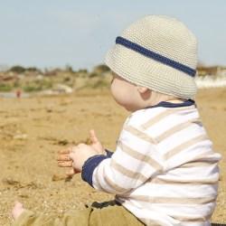 Baby with cream beanie 1