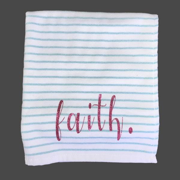 Faith Guest towel blue