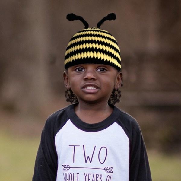 Bailee Beanie - Bee design