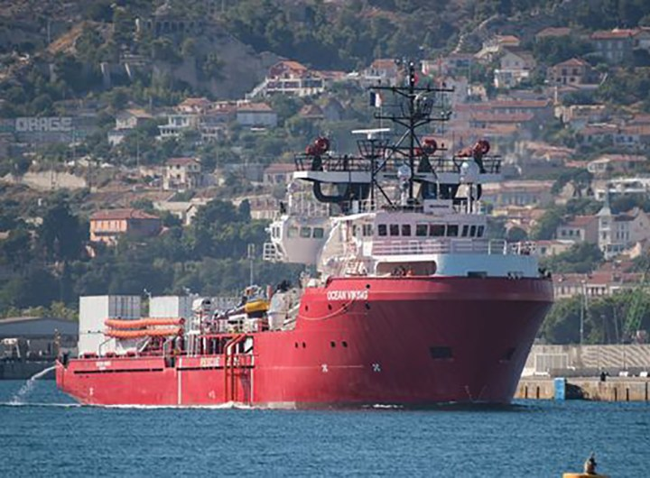 océan viking le bateau de sos Méditerranée
