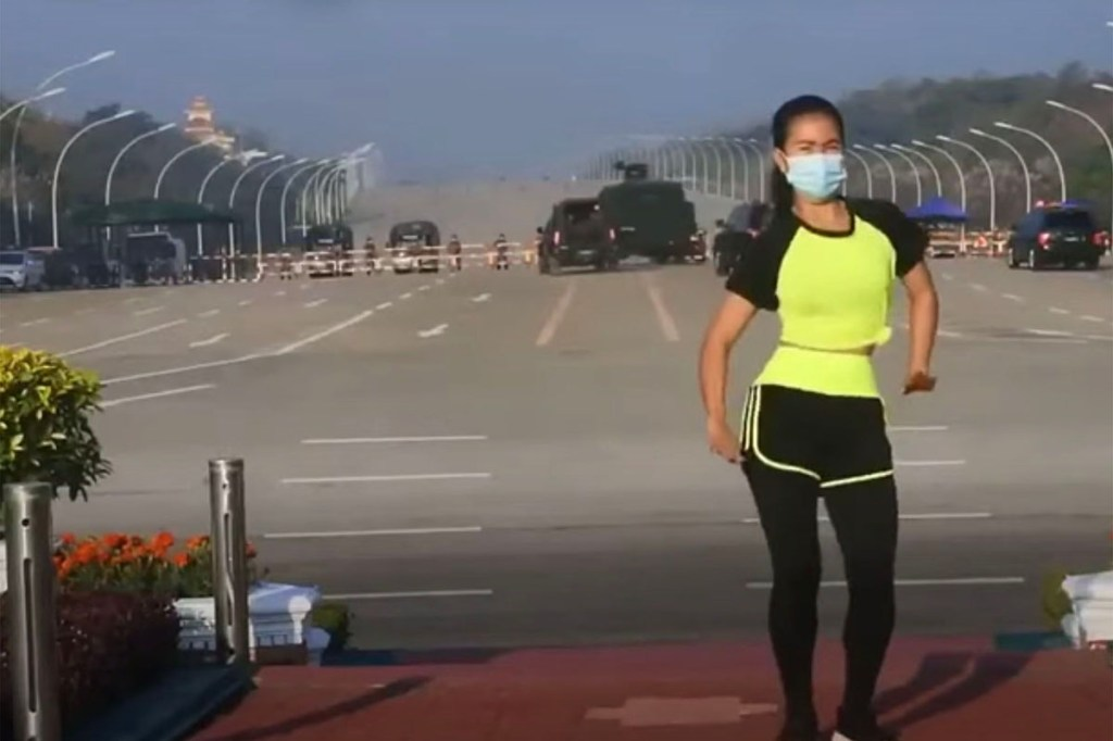 fitness en plein coup d'état en Birmanie