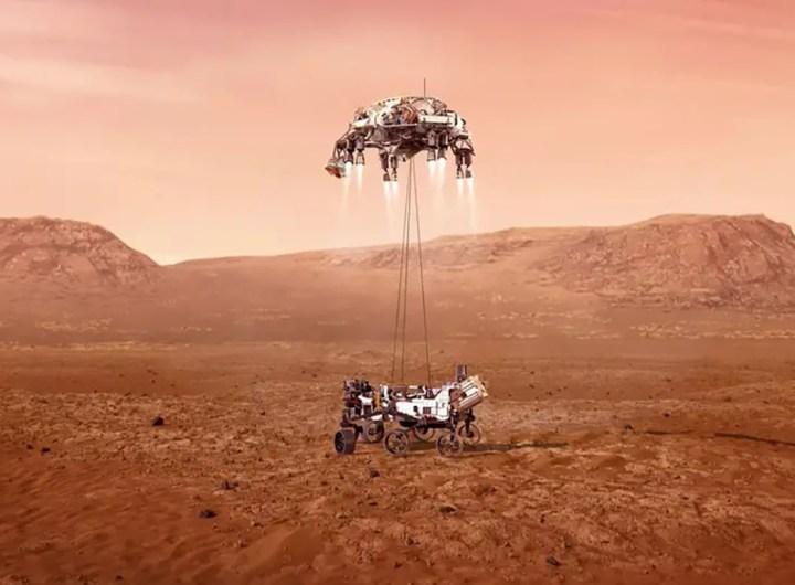 vapeur dans l'atmosphère de Mars