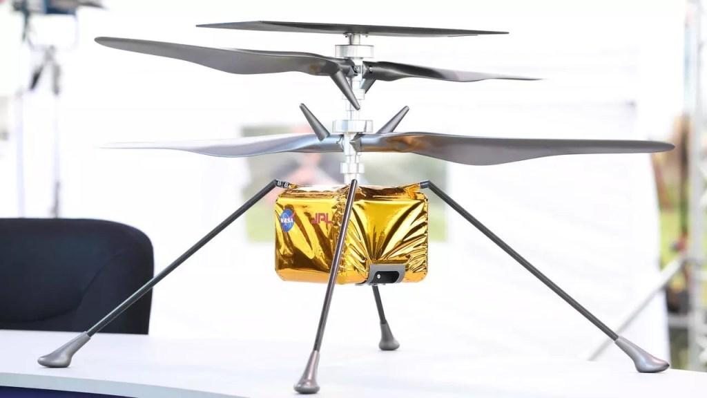 un hélicoptère sur Mars par la NASA