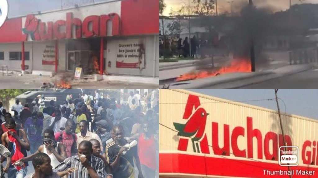 Sénégal les magasins Auchan sont la cible des manifestants