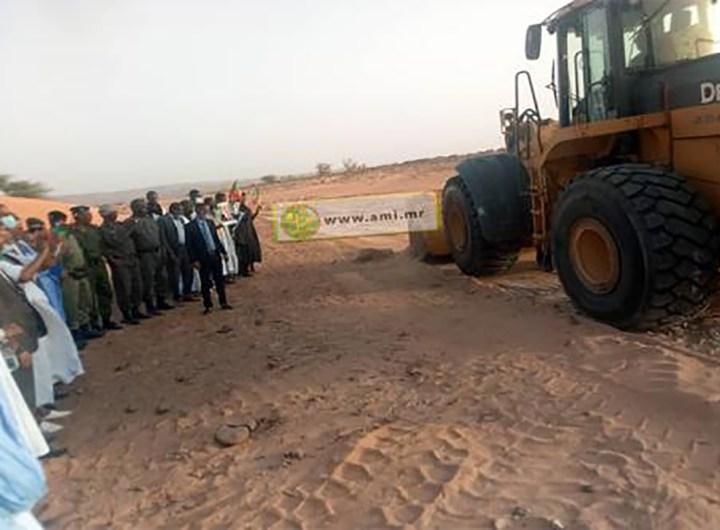 Construction de la route reliant Moudjéria à des localités de la commune