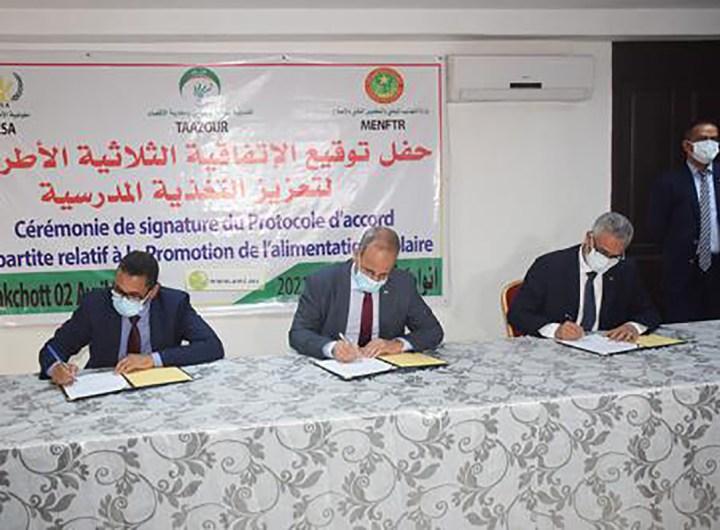Accord de partenariat pour la nutrition scolaire entre le ministère et la CSA