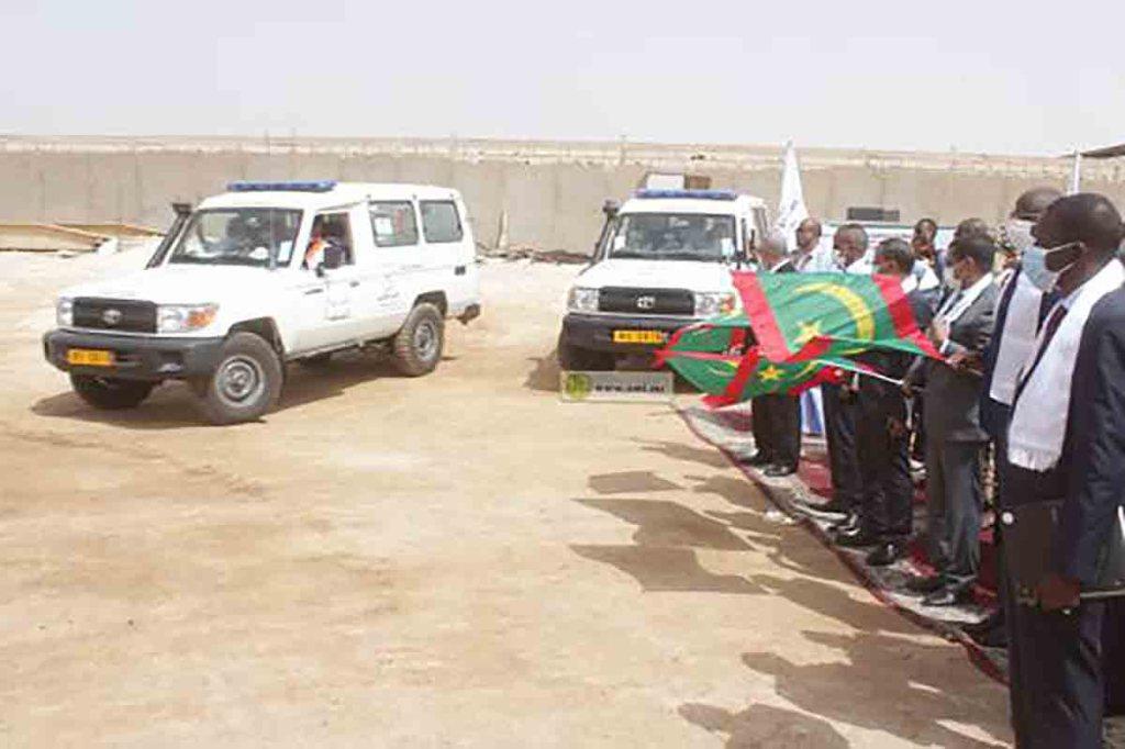 Mise en service de 10 ambulances pour la sécurité routière