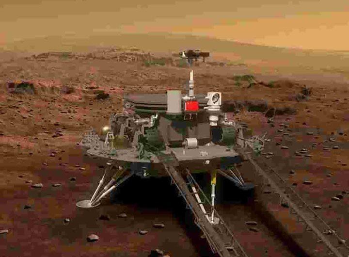 Le robot chinois Zhurong a pris un selfie sur Mars
