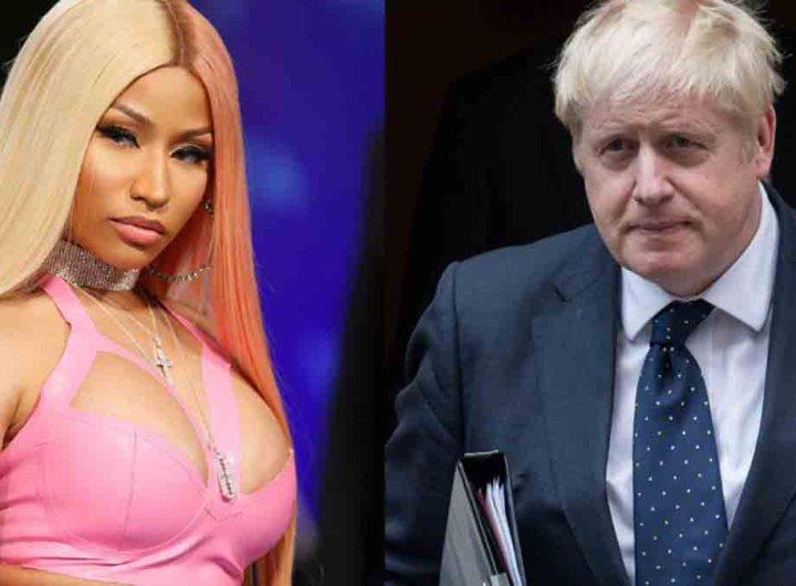 Après ses propos antivax, Nicki Minaj en roue libre interpelle Boris Johnson
