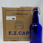 Cobalt/Blue E.Z Cap 16 oz. Bottles