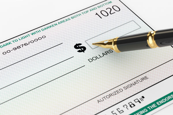 Use checks at the ATM to make credit card payments