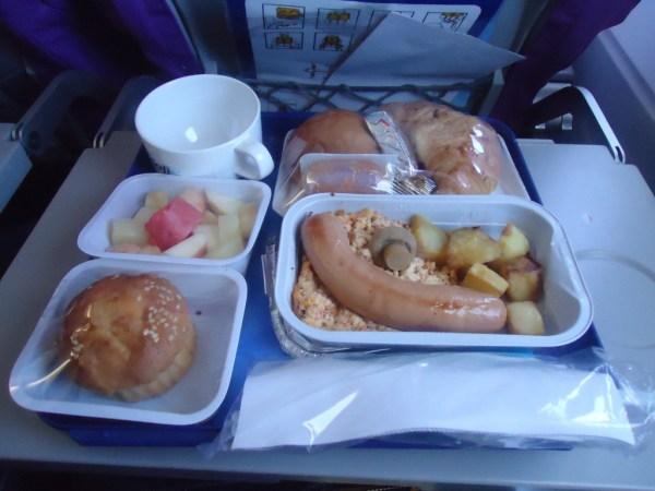 Safi Airways Breakfast
