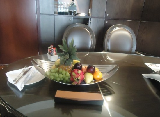 Hyatt Regency Dubai Regency King Suite fruit amenity