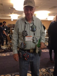 Guy with credit card belt and necklace at Chicago Seminars