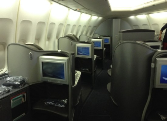 United Airlines Global First Cabin 747 Honolulu - Tokyo