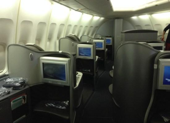 United Airlines Global First Cabin 747 Honolulu - Tokyo