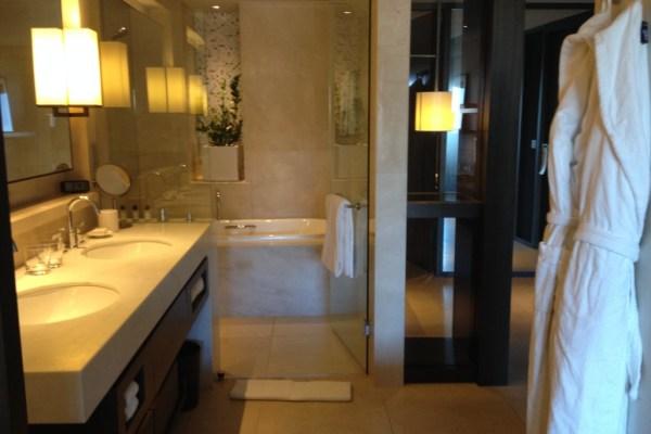 Park Hyatt Sydney Opera King Room Bathroom Shower and Tub