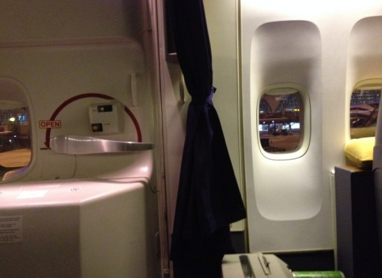 Thai Airways Royal First Class 747 Curtain Bangkok to Sydney