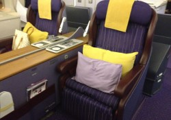 Thai Airways First Class Seat 747 Bangkok to Sydney