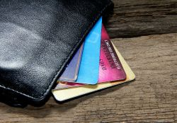Rewards credit Cards in a wallet