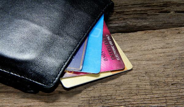 Rewards credit Cards in a wallet