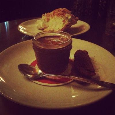 Serious Pie Chocolate Budino and Coconut Cream Pie